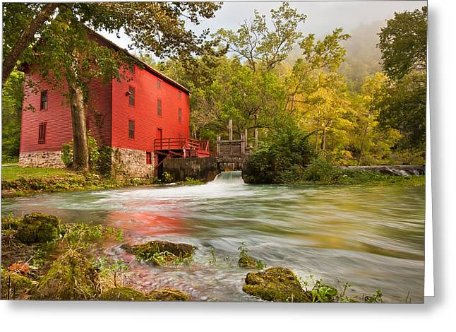 Historic Site Greeting Cards - Alley Spring Mill Greeting Card by Gregory Ballos