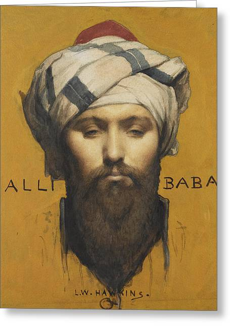 Baba Paintings Greeting Cards - Alli Baba Greeting Card by Louis Weldon Hawkins