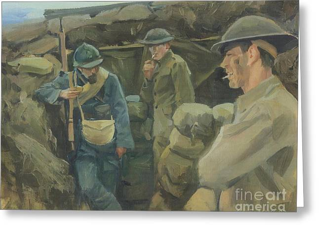 World War One Paintings Greeting Cards - Allies Greeting Card by Marcus Pierno