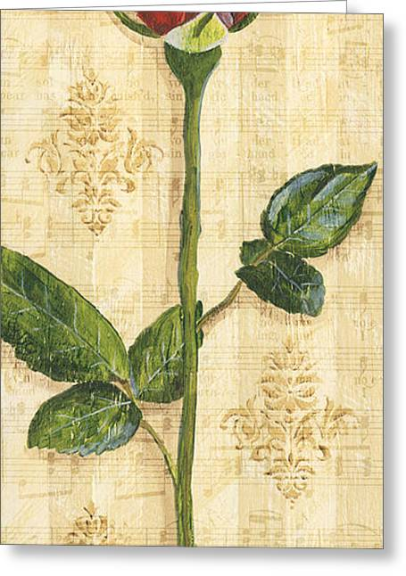 Red Rose Greeting Cards - Allies Rose Sonata 1 Greeting Card by Debbie DeWitt