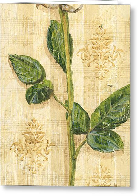 Red Leaves Mixed Media Greeting Cards - Allies Rose Sonata 2 Greeting Card by Debbie DeWitt