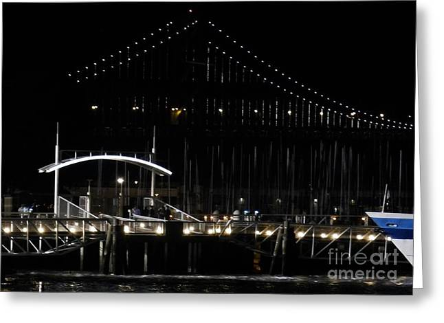 San Francisco Bay Mixed Media Greeting Cards - Alls Quiet... Greeting Card by Michael Lovell