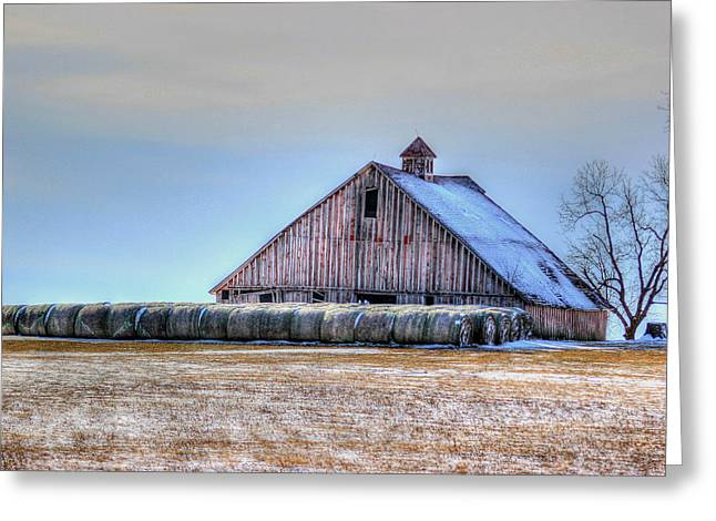 Hay Bales Greeting Cards - Allurement Greeting Card by Thomas Danilovich