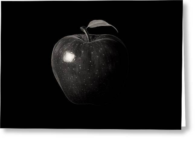 Apple Picking Greeting Cards - Alluring Red In Monochrome Greeting Card by Lourry Legarde
