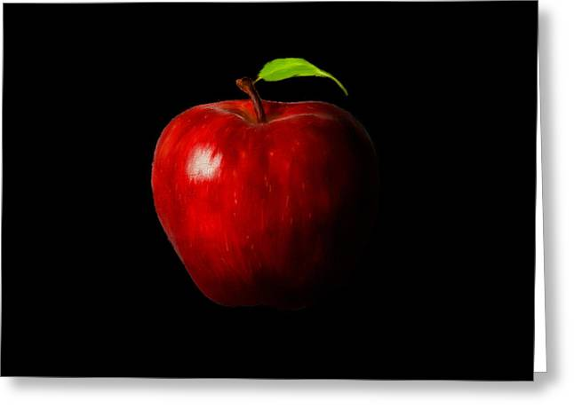 Apple Picking Greeting Cards - Alluring Red Greeting Card by Lourry Legarde