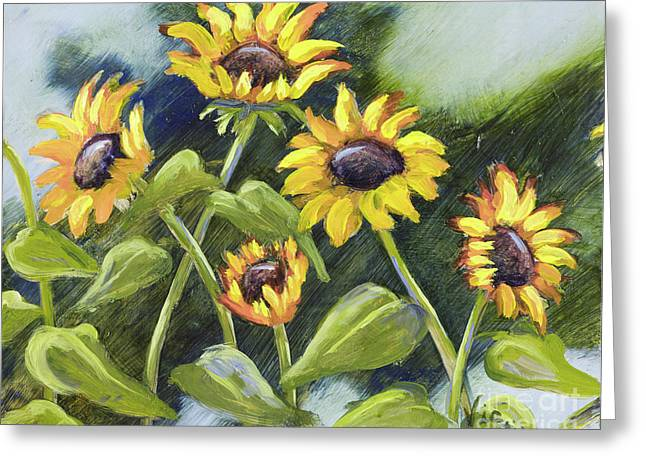 Mo Artist Paintings Greeting Cards - Alluring Sunnies  Greeting Card by Vic  Mastis