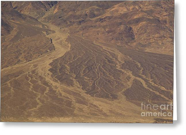 Californian Greeting Cards - Alluvial Fan, Death Valley Greeting Card by Richard and Ellen Thane