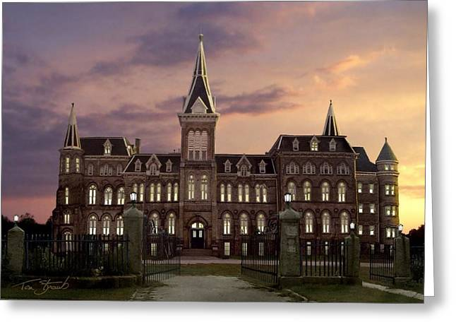 Haunted Schools Greeting Cards - Alma lights Greeting Card by Tom Straub