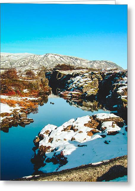 Kjona Greeting Cards - Almannagja Iceland Greeting Card by Mirra Photography
