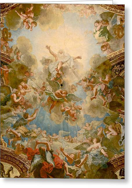 Almighty God The Father Greeting Card by Antoine Coypel
