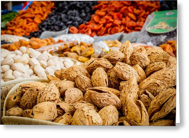 Grocery Store Greeting Cards - Almonds Greeting Card by Alexey Stiop