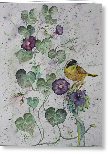 Patsy Sharpe Paintings Greeting Cards - Almost Botanical Greeting Card by Patsy Sharpe