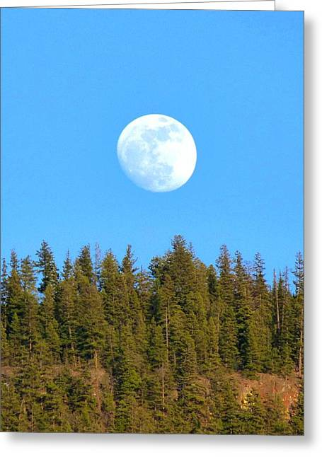 Moonrise Greeting Cards - Almost Full Greeting Card by Will Borden