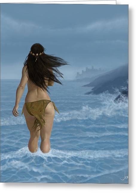 Wacom Tablet Greeting Cards - Almost Home Greeting Card by Jephyr Art