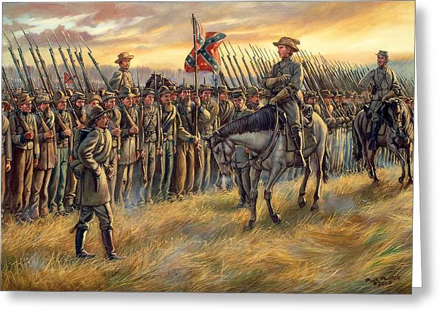 Battle Of Franklin Paintings Greeting Cards - Almost Home Greeting Card by Mark Maritato