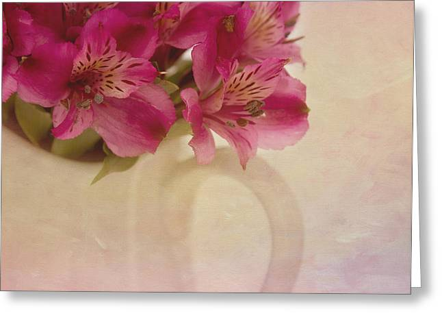 Alstroemeria Greeting Cards - Almost Greeting Card by Kim Hojnacki