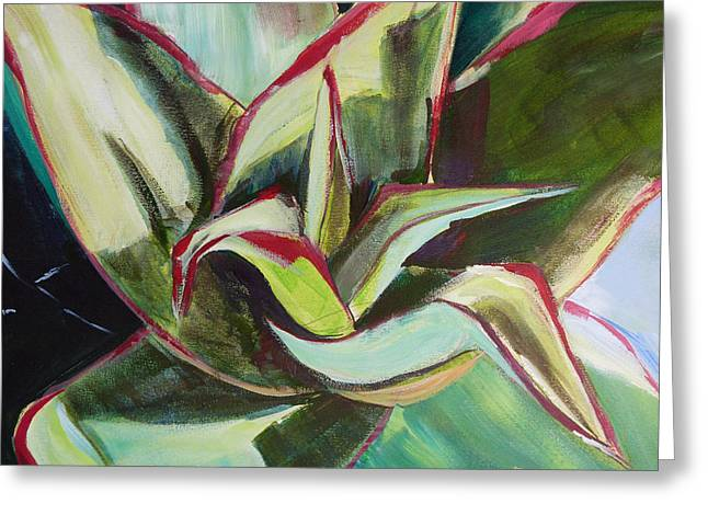 Suzanne Willis Greeting Cards - Aloe Plant Greeting Card by Suzanne Willis