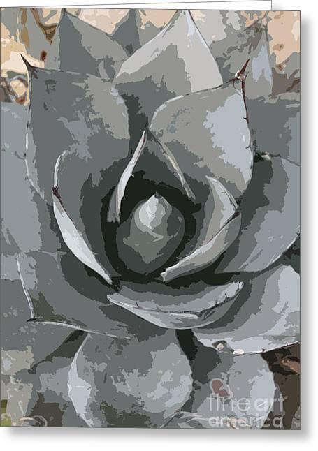 Christiane Schulze Greeting Cards - Aloe Vera Abstract Greeting Card by Christiane Schulze Art And Photography