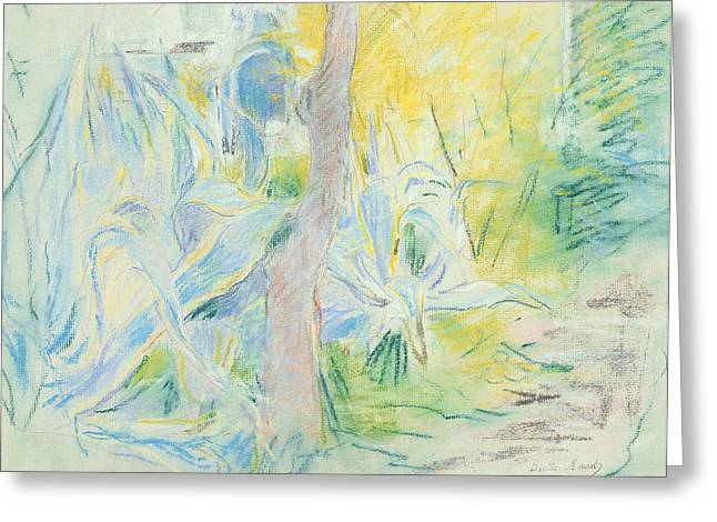 Natural Pastels Greeting Cards - Aloes at Villa Ratti Greeting Card by Berthe Morisot