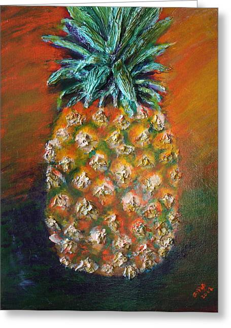 Food Reliefs Greeting Cards - Aloha Greeting Card by Gitta Brewster