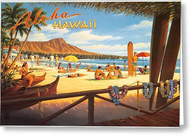 Aloha Hawaii Greeting Card by Vintage