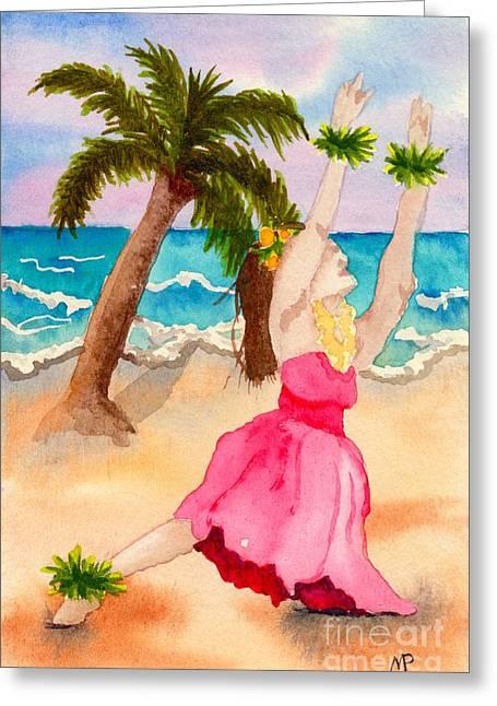 Lahaina Greeting Cards - Aloha Hula Greeting Card by Melanie Pruitt