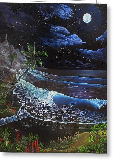 Kevin F Heuman Greeting Cards - Aloha Luna Greeting Card by Kevin F Heuman