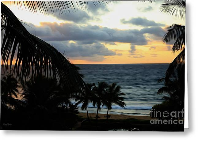 Reception Greeting Cards - Aloha Morning Greeting Card by Cheryl Young
