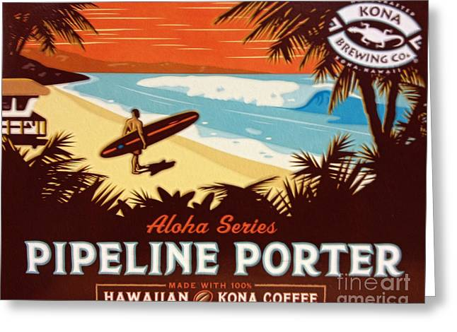 Kona Brewing Greeting Cards - Aloha Series 1 Greeting Card by Cheryl Young