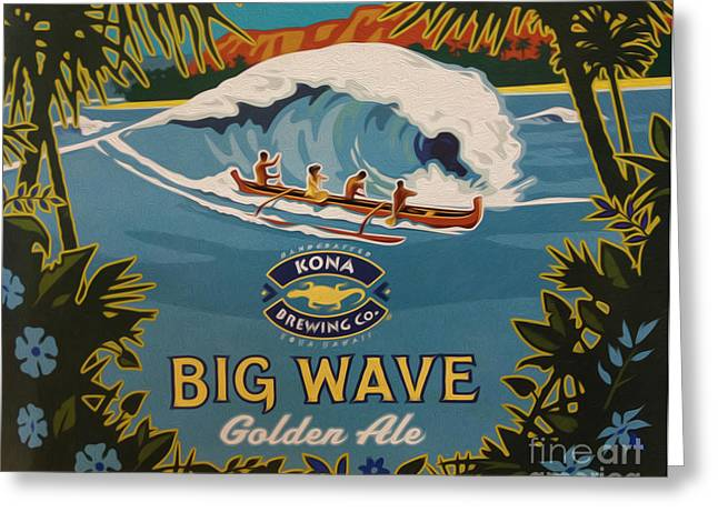 Kona Brewing Greeting Cards - Aloha Series 2 Greeting Card by Cheryl Young