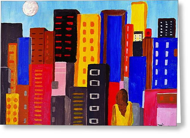 Mirko Greeting Cards - Alone Among All - City 05 Greeting Card by Mirko Gallery