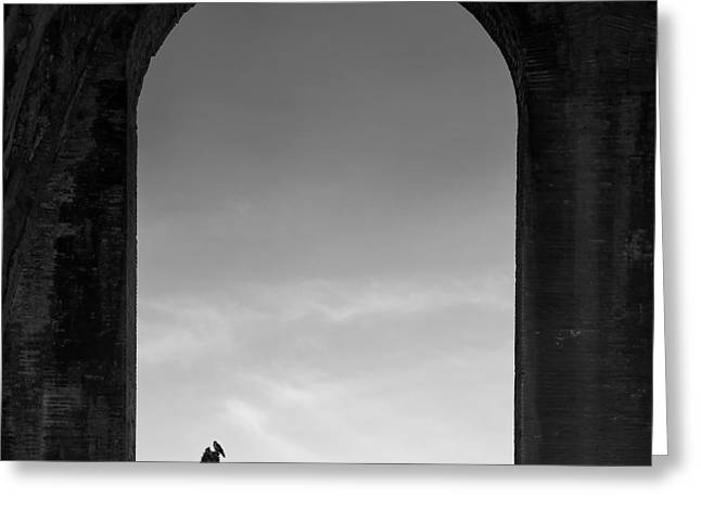Arched Windows Greeting Cards - Alone Greeting Card by Dave Bowman