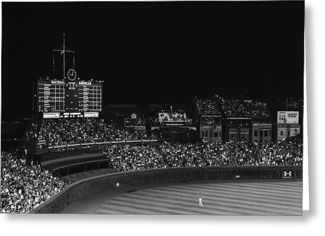 Baseball Art Greeting Cards - Alone in Center Field Greeting Card by Jamie and Kelley Photography