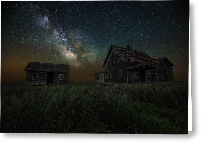 Astrophoto Greeting Cards - Alone in the Dark Greeting Card by Aaron J Groen