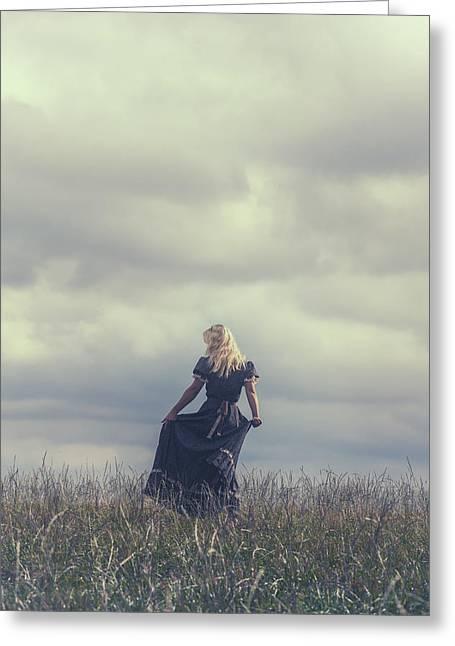 Dancing Girl Greeting Cards - Alone Greeting Card by Joana Kruse