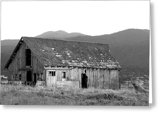 Old Barns Greeting Cards - Alone on a Hill Greeting Card by Brooks Garten Hauschild