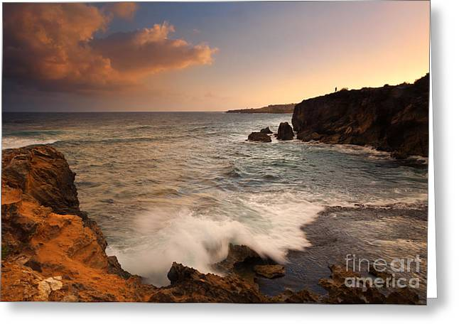 Lithified Greeting Cards - Alone with Paradise Greeting Card by Mike  Dawson