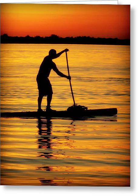 Male Forms Greeting Cards - Alone With The Sun Greeting Card by Karen Wiles