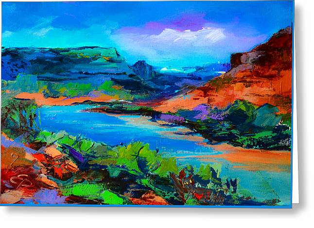 Modern Western Greeting Cards - Along Colorado River - Utah Greeting Card by Elise Palmigiani