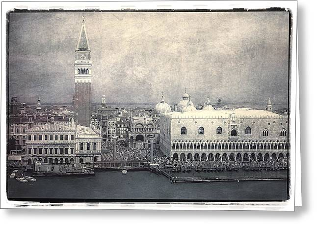 Water Taxi Greeting Cards - Along St. Marks Square Greeting Card by Julie Palencia