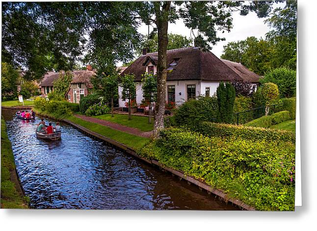The North Greeting Cards - Along the Canal. Giethoorn. Netherland Greeting Card by Jenny Rainbow