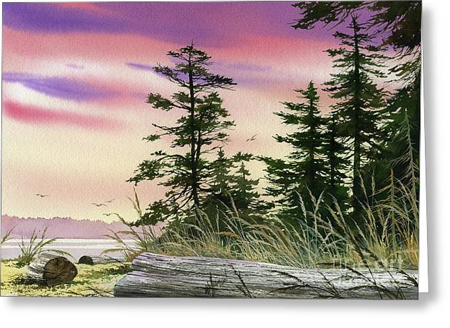 Landscape Framed Prints Greeting Cards - Along the Coast Greeting Card by James Williamson