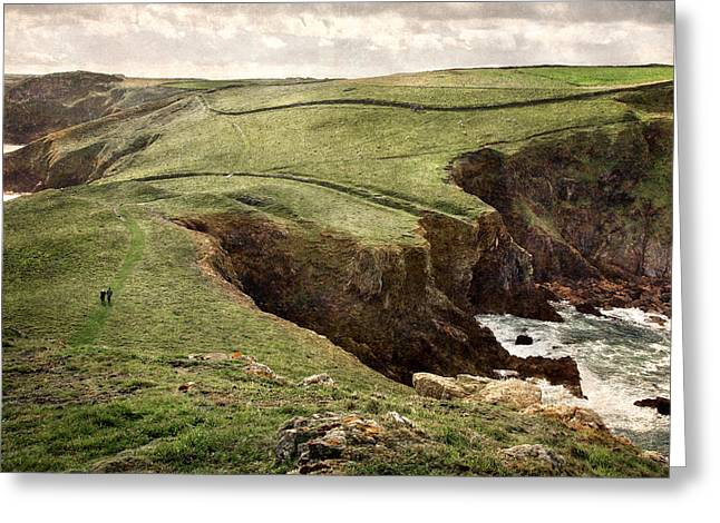 Along the Coast Path Greeting Card by William Beuther