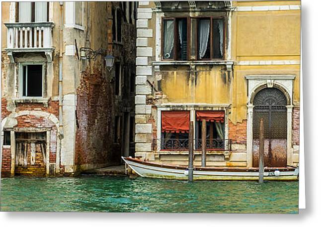 Historic Home Greeting Cards - Along the Grand Canal Greeting Card by Douglas J Fisher