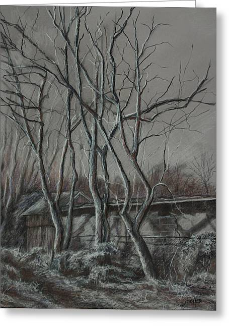 Along The Greenway 2 Greeting Card by Janet Felts