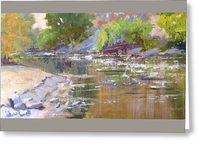 Beachhead Greeting Cards - Along the Kern River Greeting Card by Sharon Weaver