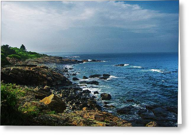 Along The Marginal Way Greeting Card by Diane Valliere