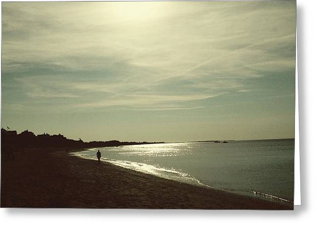 Nantucket Sound Greeting Cards - Along the Nantucket Shores Greeting Card by Natasha Marco
