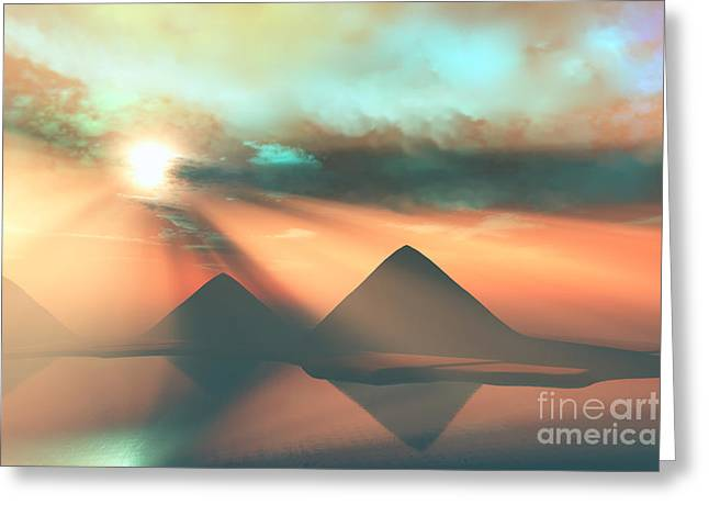 Pharaoh Digital Art Greeting Cards - Along the Nile Greeting Card by Corey Ford