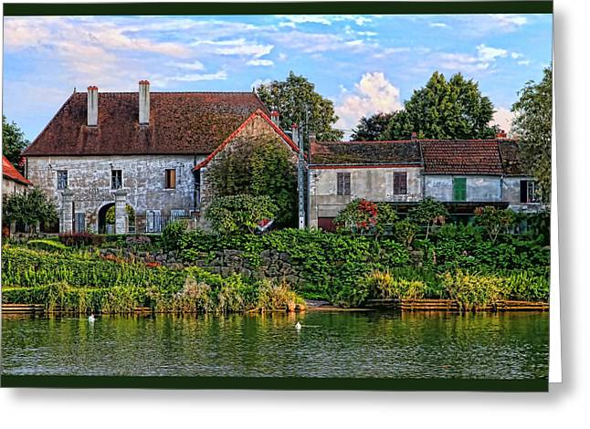 Along The River Somme Greeting Card by Tom Prendergast